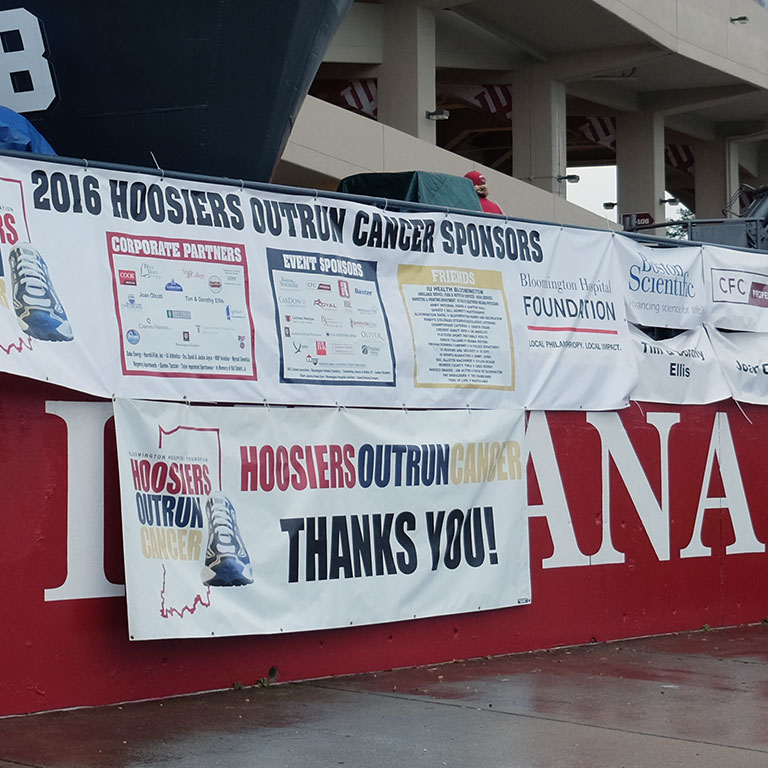 2016 Hoosiers Outrun Cancer Banner